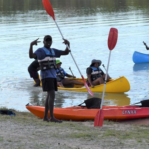 Kayaking at Lake Mary Ann