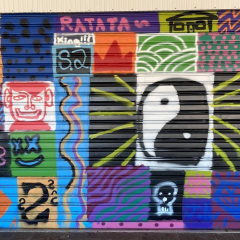 Roller door art work