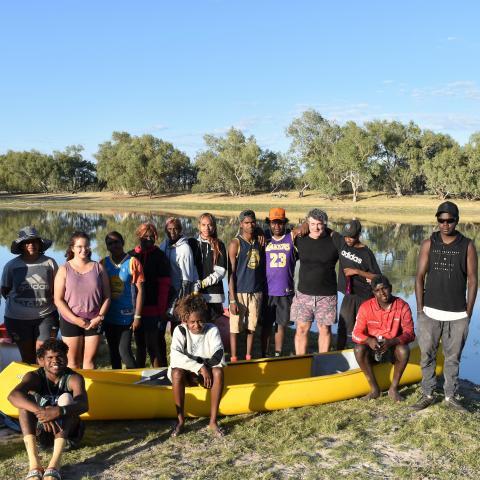 Group photo at Lake Mary Ann