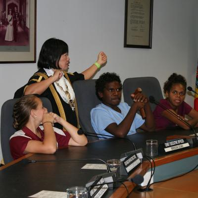 Careers visit to the Lord Mayor of Darwin